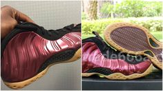4fcb58df5fa Real VS Fake Air Foamposite One Maroon Gum  Tips To Avoid Them