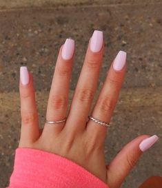 Light Pink Acrylic Nails, Pink Gel Nails, Acrylic Nails Coffin Short, Simple Acrylic Nails, Best Acrylic Nails, Light Nails, Nails Rose, 3d Nails, Light Colored Nails