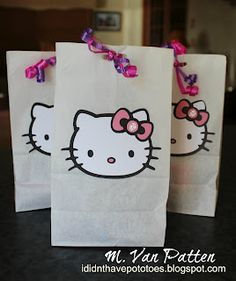Hello Kitty Goodie Bags  I Didn't Have Potatoes