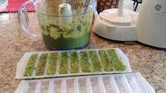 Pesto à la fleur d'ail, basilic et parmesan