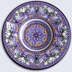 Geometric Majolica reminds me of kaleidoscopes