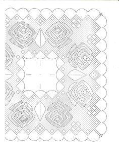 Floral scarf pattern