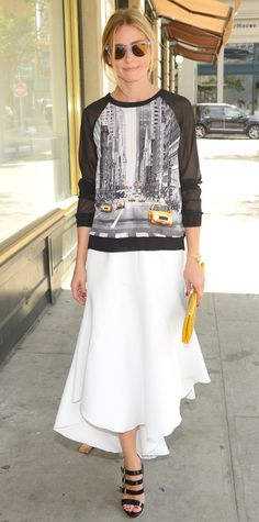Look of the Day - September 25, 2014 - Olivia Palermo in Elie Tahari for Kohl's DesigNation from #InStyle