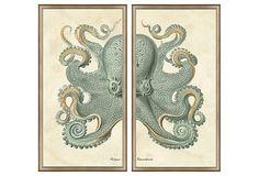 the triptych is my favorite but for a fraction of the price, here is a diptych that is just as cool. I heart OneKingsLane.