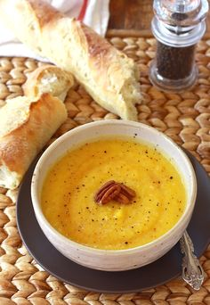 Roasted Pumpkin Soup recipe by SeasonWithSpice.com