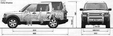 Car Blueprints 2004 Land Rover Discovery 3 Suv Blueprint