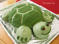 Turtle Party Food Ideas - turtle birthday cake