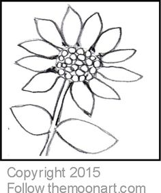 Sunny Sunflower Color Page Free ColoringColoring PagesChristmas ScenesColouring