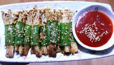 팽이버섯 효능으로는 면역력 향상, 변비, 신경안정, 빈혈, 혈액순환 개선, 다이어트, 피로회복에 좋은 음식인데요. 오늘은 한정식 집에서 나오는 팽이버섯 대파말이 집에서 만드는 방법 소개합니다.  팽이버섯은.. K Food, Cooking Photos, Bulgogi, Food Festival, Korean Food, Food Design, Kimchi, Ketogenic Diet, Asparagus