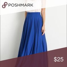 Blue Maxi skirt Maxi skirt in great condition. No lining. Skirts Maxi