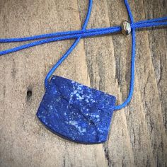 LAPIS LAZULI Raw Rough Necklace on String/Cord Pendant, Quality and Precious Stone, Crystal,  Unique Lapis, Yoga Jewelry, Spiritual by GingerandFoxy on Etsy Cleaning Stone, Ibiza Fashion, Yoga Jewelry, Lapis Lazuli, Boyfriend Gifts, Coachella, Natural Gemstones, Gemstone Jewelry, Cord