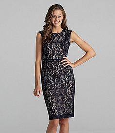 French Connection Sleeveless Lace Dress | Dillards.com $112.80