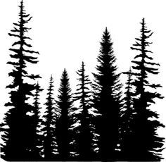 Impression Obsession Cling Stamp PINE TREES CC101