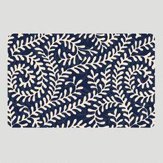 One of my favorite discoveries at WorldMarket.com: Alexandra Blue Cushion Floor Mat