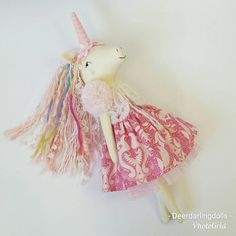 Check out this item in my Etsy shop https://www.etsy.com/au/listing/601850790/handmade-doll-unicorn-clothdoll
