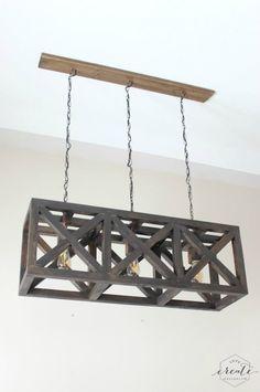 Industrial Light Fixture Simple Tutorial - wood-lamps, chandeliers