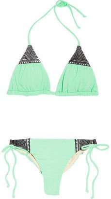 Mara Hoffman Embroidered triangle bikini