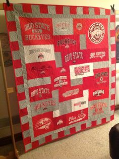 Ohio State T-shirt Quilt