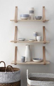 shelf Wood & Leather Hubsch