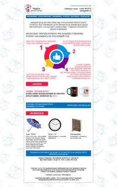 Проект Chudesa. MailChimp. Стоимость 60$. Время на разработку 4 часа.