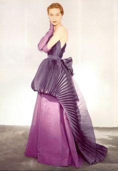 Horrible dress for 1951, horrible in 2016.  schiaparelli, 1951