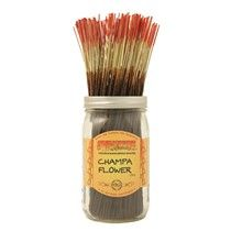 Champa Flower™ - An exotic floral with notes of rose, sweet herbs and fresh berries. Deeper notes include patchouli, sandalwood and vanilla. Our version of the popular classic Nag Champa.