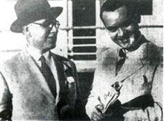 Díez-Canedo y García Lorca en Montevideo, el 30 de enero de 1934.