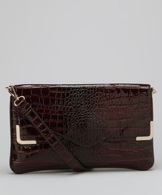 Take a look at this Wine Zeta Shoulder Bag by Melie Bianco on #zulily today!