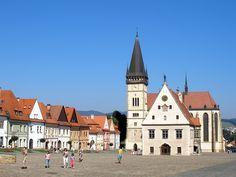 UNESCO Heritage Site the center of Bardejov, Slovakia