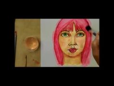 Face Drawing Tutorial by Violette Part 1 - art journaling Art Journal Pages, Art Journaling, Art Journal Techniques, Drawing Techniques, Art Shed, Art And Craft Videos, Art Journal Tutorial, Art Journal Inspiration, Drawing People