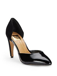 Black D'Orsay Pamona Mixed-Media Cutout Pumps @ Saks Off 5th $70