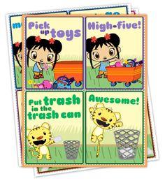 Ni Hao, Kai-lan Cleanup Cards