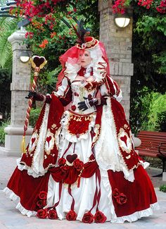 This has got to be the most ridiculously intricate and beautiful cosplay I have ever seen! Queen of Hearts by AmazonMandy inspired by art by Sakizou
