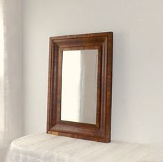 Vintage Wood Mirror in Large Ogee Mahogany by MomsantiquesNthings