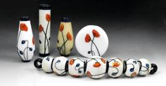 Beautiful, from JC Herrell Clay Beads, Lampwork Beads, Melting Glass, Lampworking, Glass Paperweights, Handmade Beads, Bead Art, How To Make Beads, Fused Glass