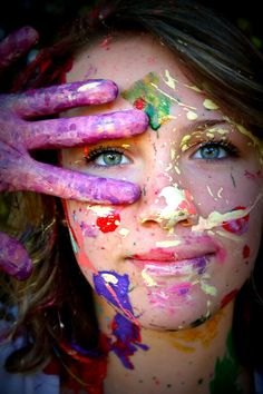 Paint photography senior pictures