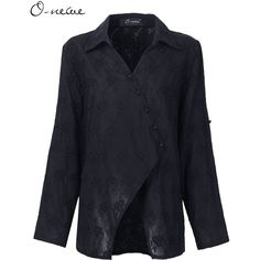 O-NEWE Ethnic Women Embroideried Adjustable Sleeve Button Blouse Coat (€28) ❤ liked on Polyvore featuring outerwear, coats, black, women plus size outerwear, print coat, long sleeve coat, pattern coat, women's plus size coats and button coat