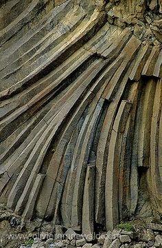 Orgues basaltiques d'Aldeyarfoss en Islande