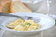Ravioli with Prosecco Cream Sauce - Mother Thyme