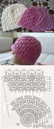 Ажурная шапочка крючком - Вязание - Страна Мам