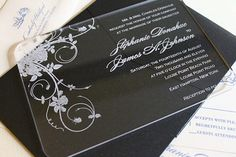 Engraved Acrylic Wedding Invitations  Jardin by nGraveSolutions, $11.00