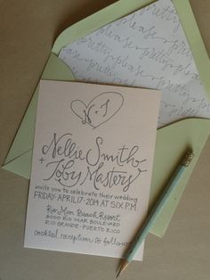 Sweet Heart Garden Party Calligraphy Wedding by GreySnailPress, $4.50
