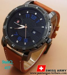 SWISS ARMY LEATHER 37 BROWN LIST BLUE - Jam Tangan Terbaru  8f2878e3c2