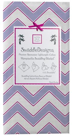 "Swaddle Designs ""Chevron"" Marquisette Swaddling Blanket"