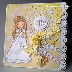 Malgodia Passion: Jeszcze komunijne kartki First Communion Cards, Baptism Party, Bullet Journal Layout, Kirigami, Hobbies And Crafts, Home Crafts, Card Making, Greeting Cards, Scrapbook