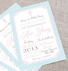 Christening invites for girls