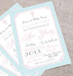 Christening invites for girls