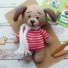 Собака Бусинка - малышка амигуруми. Мастер-класс по вязанию собачки от Марии Гавриловой.