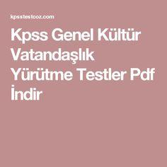 Kpss Genel Kültür Vatandaşlık Yürütme Testler Pdf İndir