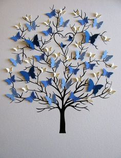 Butterfly tree craft gifts for grandparents Family Tree of Butterflies in YOUR Choice of Colors for Each Generation / Personalized with Fa Home Crafts, Diy And Crafts, Crafts For Kids, Arts And Crafts, Paper Crafts, Diy Paper, Craft Ideas For Teen Girls, Decor Crafts, Butterfly Tree